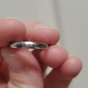 Beautiful sterling silver Christian fish ring